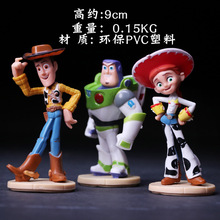 9CM PVC Plastic Toy Story Woody Buzz Lightyear Joan Cusack Action Figure Cake Furnishing Articles Model Holiday Gifts Ornament