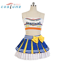 LoveLive! Love Live Eli Ayase Cheerleaders Uniform Strapless Skirt Swimsuit Anime Halloween Cosplay Costumes For Women Girls