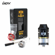 100% Original iJoy Combo RDTA RDA Sub Ohm Tank Atomizer 6.5ml e-Juice Capacity With Side Filling System E-cigarettes Atomizer