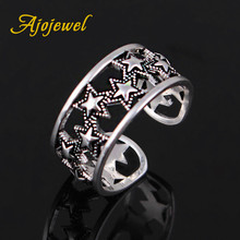 Ajojewel New Design Start Rings Open Hollow Out Vintage Jewelry 2017 Trendy Accessories For Part Birthday Gift(China)