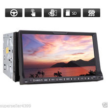"7"" HD TouchScreen Double 2Din In-Dash Car DVD Player built-in Bluetooth car Stereo RDS Radio Player Ipod TV MP3 Head Unit USB SD"