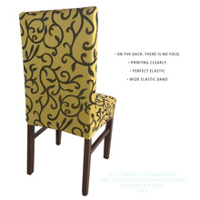 5 Pattern Printing Lycra Dining Chair Covers spandex For Weddings Restaurant Banquet kitchen Stretch Folding Chair Cover Hotel