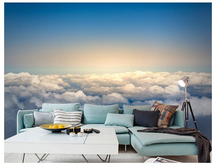 HTB1BePlqeuSBuNjSsplq6ze8pXaJ - Pink Sky Cloud 3d Cartoon Wallpaper Murals for Girls Room