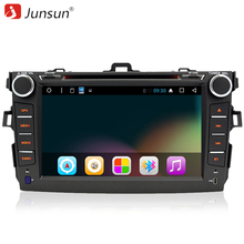 "Junsun 8"" 2 Din Android 6.0 car dvd radio autoradio gps navigation Radio Steering wheel controls For Toyota corolla 2007~2011(China)"