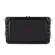 8 Inch HD Digital Touch Screen Car DVD Player GPS Navigation Bluetooth Multimedia for VW Volkswagen+ Europe Map+Free Card