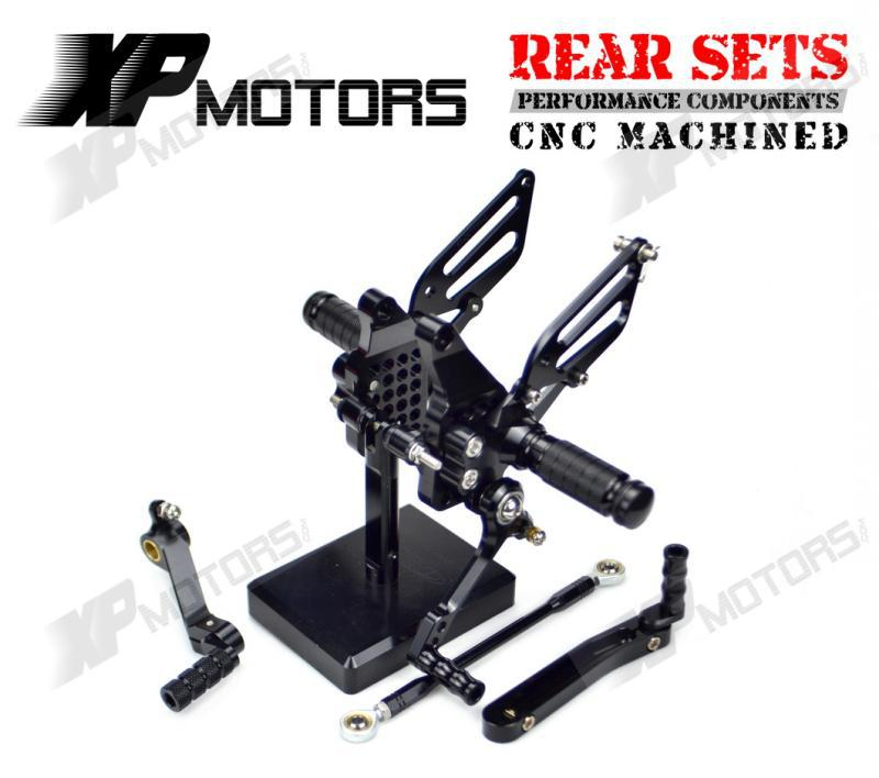 New CNC Black  Billet Racing Adjustable Rearset Foot Pegs Rear Sets For Ducati 749 749R/S 999 999R/S 2003 2004 2005 2006<br><br>Aliexpress