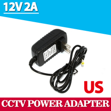 Universal AC 100-240V US Plug For DC 12V 2A 24W Power Supply Adapter Charger For LED Strips CCTV Security Camera Top Sale(China)