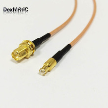RF RP SMA  Female  jack Switch MCX Male straight Pigtail Cable RG316 Wholesale Fast Ship 15CM