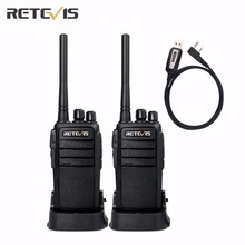 A Pair Retevis RT21 Walkie Talkie+USB Programming Cable Scrambler CTCSS/DCS Amateur Radio Transceiver UHF Portable Two Way Radio