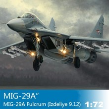 1:72 Scale Assembly Airplane Model MIG-29A Fulcrum (Izdeliye 9.12) Airforce Model 01674 Airplane Kit Model Puzzle DIY
