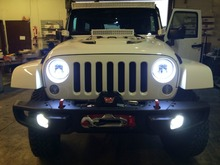 DOT certification 40w 7inch hi/lo Led headlight for wrangler JK CJ TJ LJ with daytime running light with canbus anti flicker