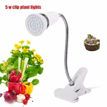 5W LED Plants Grow Light Flexible Lamp Holder Clip For Flowers Plants Hydroponics LED Plant Lighting Grow Lamp Hot Sale