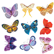9 Pcs/Lot PVC DIY Butterfly Wall Stickers Home Decor Poster for Kitchen Bathroom Fridge Adhesive to Wall Decals Decoration