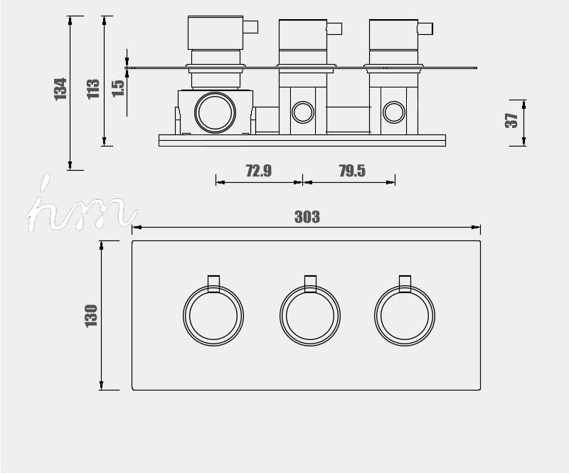 hm 2 Functional Channels High Flow 70L Temperature Thermostatic Controller Water Mixer Bath Shower Brass Chrome Mixer Finishing (24)