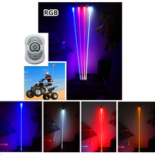 """6PCS"" RGB High Quality led America flag Light led light for car jeeep suv atv off road remote Led RGB Flag Light Warning light(China)"