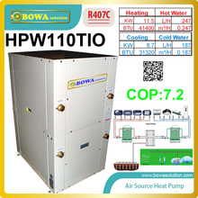 3-in-1 water source/ geothermal heat pump integrate hot water heater and cooling, pls check shipping cost with us