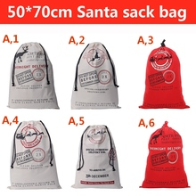 20 units / lot 6 style Santa Claus Christmas moose cotton canvas bag Drawstring Bag Christmas Gift Christmas Gift Santa sack