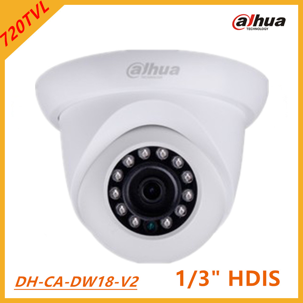 Dahua Analog Camera 720TVL HDIS Water-proof IR Mini Dome Camera infrared 20m, Smart IR IP66 waterproof DC12 V DH-CA-DW18-V2<br>