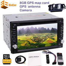 Backup camera+2 din autoradio in dash car CD DVD player headunit double din gps navigation radio stereo auto tactic car pc radio(China)