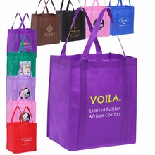 100PCS/Lot  Custom Personalized Large Reusable Bags Grocery Tote Shopping Bags With Printed Logo