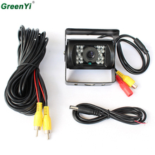 HD CCD 18 IR Night Vision Truck BusCamera Car Parking Rear View Camera With 10M 15M 20M Video Cable Optional Waterproof 12V-24V
