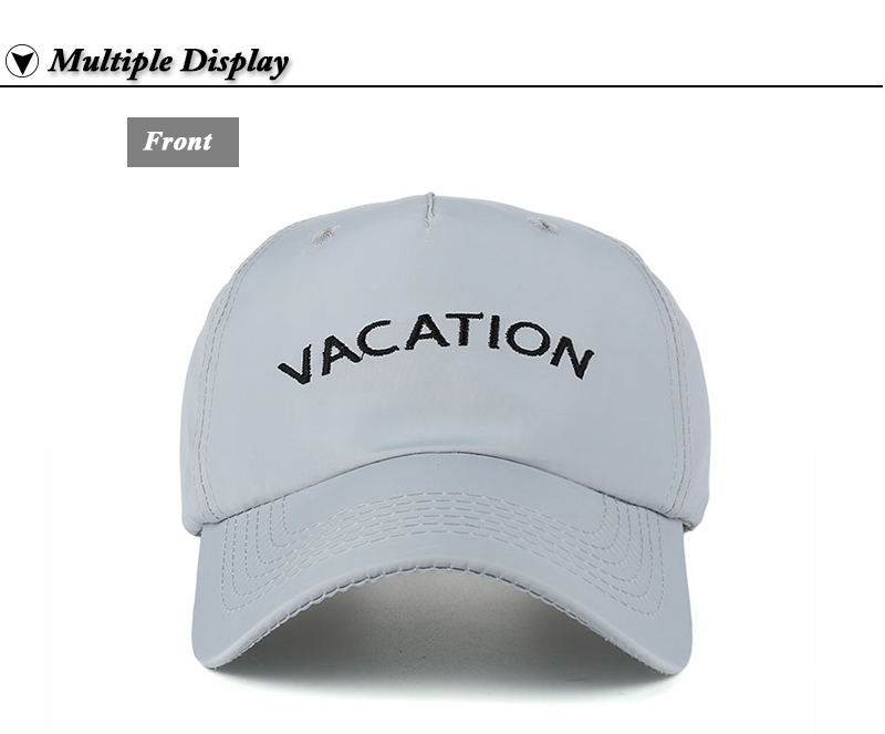 "Embroidered ""Vacation"" Baseball Cap - Front View"