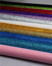 100*150cm DIY High Quality stiff  Glitter synthetic Fabric 100X150CM PER PCS( Total 17 Colors Available)