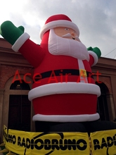 inflatable Santa Claus say hello to us for yard Christmas decoration