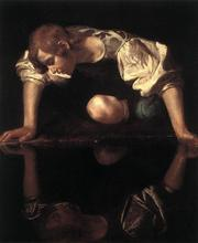 100 %hand-painted famous artists painting reproduction by Caravaggio handmade canvas oil painting Narcissus