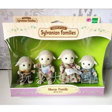 4Pcs/Lot original Sylvanian Families Squirrel Family goat familiy children plush toy gift doll with box