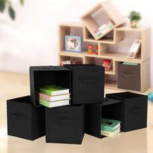 Home Office Foldable Book Underwear Bra Socks Ties Storage Box Cube Basket Bins Organizer Clothes Containers Drawers(China)