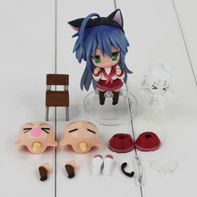 2pcs Lucky Star Izumi Konata 27# PVC Collection Model Toys Children's Action Figure Doll Free Shipping  10cm /6cm