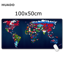 Large mouse pad 1000x500mm speed world map Keyboard Mat Desk Mat for game player for overwatch/steelseries/warface/lol