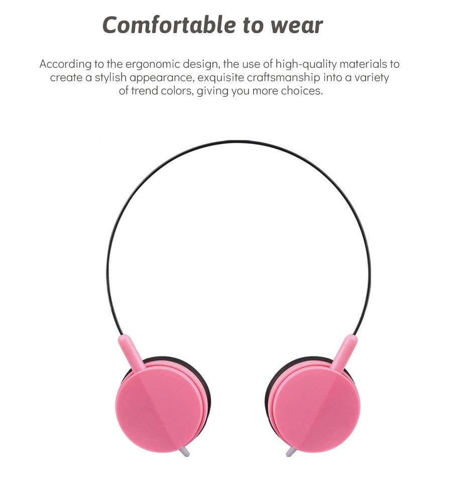 Wired Headphone Over Ear Earmuffs Mini Stereo Music Headphone Sport Headphone For Huawei Mobile Phone (5)