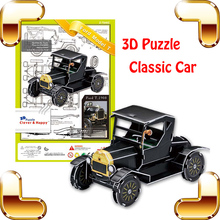 New DIY Gift Model T 3D Puzzle Model Classic Car History Art Collection Easy Built For Kids Family Fun Toys Education Decoration(China)