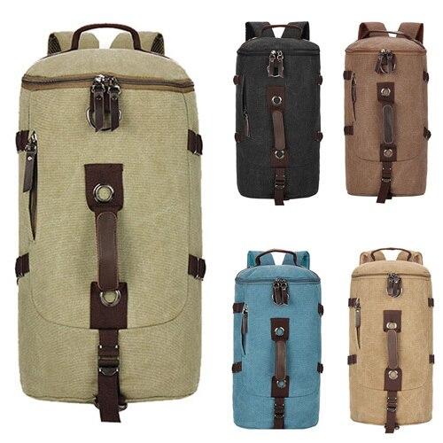 2018 Casual Bucket bag,Mens Canvas Backpack Bag, Vintage Luggage Travel Bags,Rucksack Five Color Choose<br>