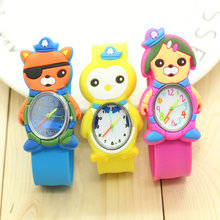 drop shipping kids slap watches children cartoon slap silicone The Octonauts watches for kids 1pcs
