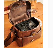 W736 Men Women Vintage Pu Leather Digital Photo Camera Case Bag For Canon Nikon AINO GIRL Sony