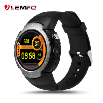 LEMFO LEM3 Android 5.1 Bluetooth Smart Watch Téléphone MTK6580 Quad Core WIFI GPS DIY Cadran