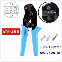 MXITA  SN-28B TAB 0.25-1.0mm2 terminal crimping pliers tool car connector crimping tool