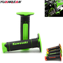 for Kawasaki logo Motorcycle Handlebar Grips Dirt Bike Hand Grip For Kawasaki KX KLX KFX KDX 65 80 85 125 250 250F 450F 450R 420(China)
