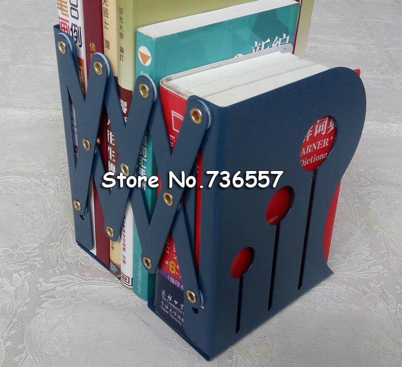 Fashion Retractable Metal Iron Bookends Office School Decorative Book Support Holder Desk Book Stands<br>