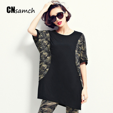 New 2017 Shirt Tops Female Summer Super Plus Size New Korean Version of The Code Pattern Short-sleeved T-shirts for Women Shirt