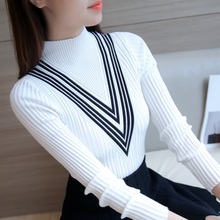 AOSSVIAO 2017 High Elasticity Knitted Winter Turtleneck Women Sweater Fashion Casual Pullovers Soft warm Ladys Sweater Black