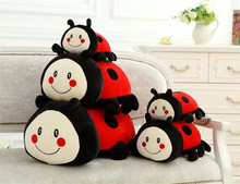 1PC 30-40CM Cute Insect Ladybug PP Cotton Stuffed Plush Toy Creative Doll Super Soft Sleeping Pillow Children Cushion Dolls(China)