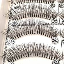 Hot 10 pairs of natural false eyelashes wispy eye lashes beauty makeup kit eyelash extension wispies eyelashes faux lashes L11