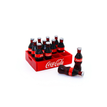 12pcs/lot Miniature Red Color Dollhouse Accessories 1:12 Water Bottle Box Decoration Baby Home Toys Mini Play Scene Model Bauble