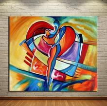 SQUARE CUBIC ABSTRACT Oil Painting Canvas Prints Wall Painting For Living Room Decorations wall picture art