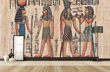 Free Shipping historical and cultural theme wallpaper wine bar KTV large mural European ancient Egyptian wallpaper