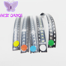 Free shipping (100pcs/lot) SMD 0805 LED Assortment Kit, Ultra Bright,, White/Blue/Green/Yellow/Red, Light Emitting Diode